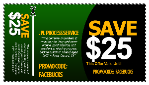 Los Angeles process server coupon